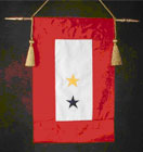 GOLD STAR BANNER WITH BLUE STAR